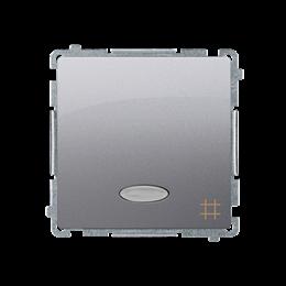 Łącznik krzyżowy z podświetleniem LED nie wymienialny kolor: niebieski (moduł) 10AX 250V, szybkozłącza, srebrny mat, metalizowan