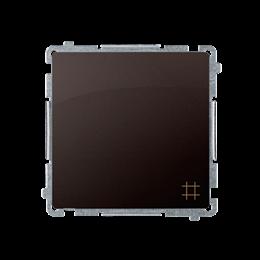 Łącznik krzyżowy (moduł) 10AX 250V, zaciski śrubowe, czekoladowy mat, metalizowany-253543