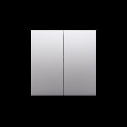 Klawisz podwójny do łączników i przycisków srebrny mat, metalizowany-251980