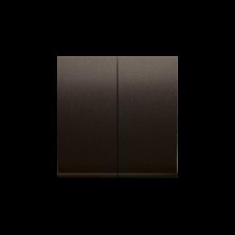 Klawisz podwójny do łączników i przycisków brąz mat, metalizowany-251982
