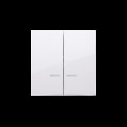 Klawisz podwójny do łączników i przycisków podświetlanych biały-251987