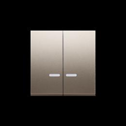 Klawisz podwójny do łączników i przycisków podświetlanych złoty mat, metalizowany-251990