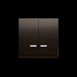Klawisz podwójny do łączników i przycisków podświetlanych brąz mat, metalizowany-251991