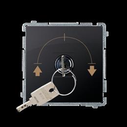 """Łącznik na kluczyk żaluzjowy 3 pozycyjny """"I-0-II"""" (moduł) 5A 250V, do lutowania, grafit mat, metalizowany-253729"""