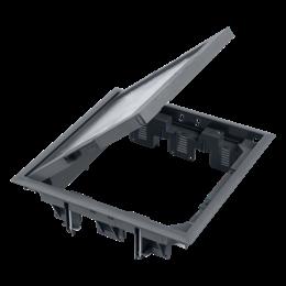 Puszka podłogowa FB kwadratowa 12×K45 5mm szary 85mm÷116mm IK:IK08-255892