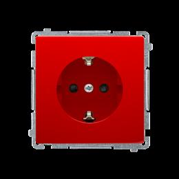 Gniazdo wtyczkowe pojedyncze z uziemieniem typu Schuko z przesłonami torów prądowych czerwony 16A-253894