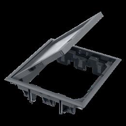 Puszka podłogowa FB kwadratowa 12×K45 12mm z zamkiem szary 85mm÷116mm IK:IK08-255914