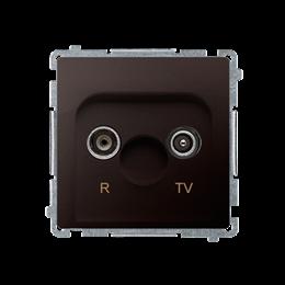 Gniazdo antenowe R-TV przelotowe tłum.:10dB czekoladowy mat, metalizowany-253915