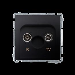 Gniazdo antenowe R-TV przelotowe tłum.:10dB grafit mat, metalizowany-253913