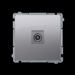 Gniazdo antenowe R-TV końcowe separowane srebrny mat, metalizowany-253986
