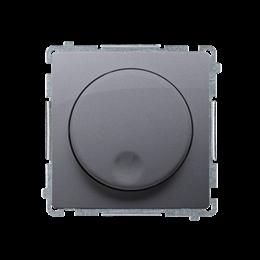Ściemniacz naciskowo-obrotowy srebrny mat, metalizowany-254219