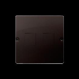 Pokrywa gniazd teleinformatycznych na Keystone płaska podwójna czekoladowy mat, metalizowany-254182