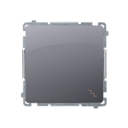 Łącznik schodowy (moduł) 10AX 250V, szybkozłącza, srebrny mat, metalizowany-253469