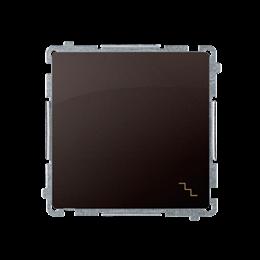 Łącznik schodowy (moduł) 10AX 250V, szybkozłącza, czekoladowy mat, metalizowany-253470