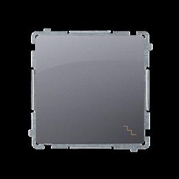 Łącznik schodowy (moduł) 16AX 250V, zaciski śrubowe, srebrny mat, metalizowany-253476