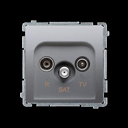 Gniazdo antenowe R-TV-SAT przelotowe tłum.:10dB srebrny mat, metalizowany-253957