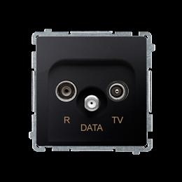 Gniazdo antenowe R-TV-DATA tłum.:10dB grafit mat, metalizowany-253975