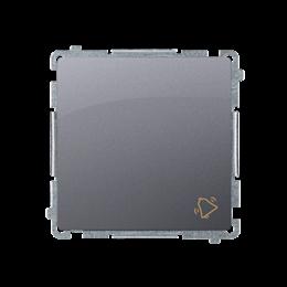 """Przycisk """"dzwonek"""" (moduł) 10AX 250V, szybkozłącza, srebrny mat, metalizowany-253571"""