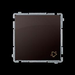 """Przycisk """"dzwonek"""" (moduł) 10AX 250V, szybkozłącza, czekoladowy mat, metalizowany-253572"""