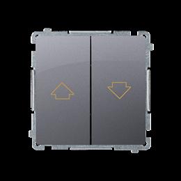 Przycisk żaluzjowy pojedynczy (moduł) 10A 250V, zaciski śrubowe, srebrny mat, metalizowany-253656
