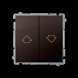 Przycisk żaluzjowy pojedynczy (moduł) 10A 250V, zaciski śrubowe, czekoladowy mat, metalizowany-253657