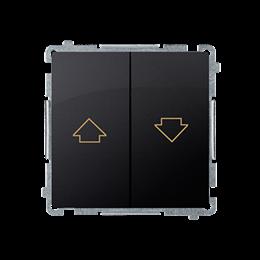 Przycisk żaluzjowy pojedynczy (moduł) 10A 250V, zaciski śrubowe, grafit mat, metalizowany-253658