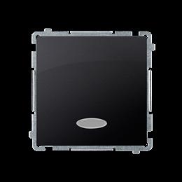 Przycisk pojedynczy zwierny z podświetleniem LED nie wymienialny kolor: niebieski (moduł) 10AX 250V, szybkozłącza, grafit mat, m