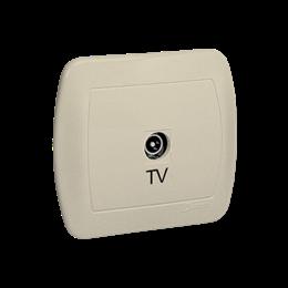 Gniazdo antenowe TV pojedyncze końcowe beżowy-255639