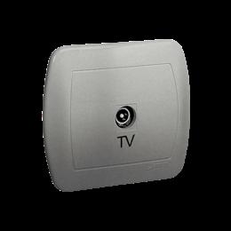 Gniazdo antenowe TV pojedyncze końcowe aluminiowy, metalizowany-255640
