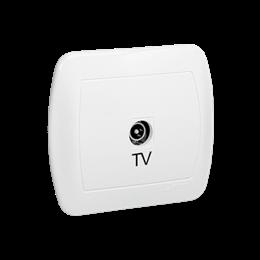 Gniazdo antenowe TV pojedyncze końcowe biały-255641