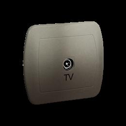 Gniazdo antenowe TV pojedyncze końcowe satynowy, metalizowany-255642