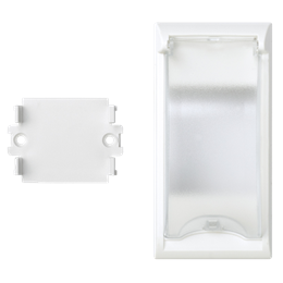Płytka z pokrywą SIMON 500 do aparatury 2-polowej do puszek podłogowych 100×50mm czysta biel-256577