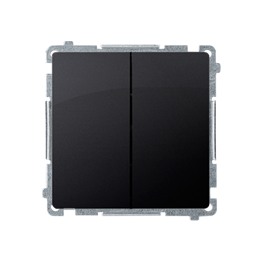 Łącznik schodowy podwójny (moduł) 10AX 230V, zaciski śrubowe, grafit mat, metalizowany-253517