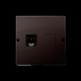 Gniazdo telefoniczne pojedyncze RJ11 (moduł) czekoladowy mat, metalizowany-254091