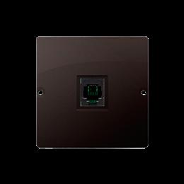 Gniazdo telefoniczne pojedyncze RJ11 (moduł) czekoladowy mat, metalizowany-254077