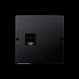 Gniazdo telefoniczne pojedyncze RJ11 (moduł) grafit mat, metalizowany-254081