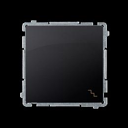 Łącznik schodowy podwójny z podświetleniem LED nie wymienialny kolor: niebieski (moduł) 10AX 230V, zaciski śrubowe, grafit mat,