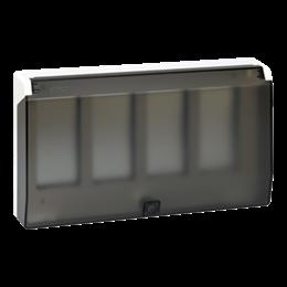 Ramka obudowy z pokrywą SIMON 500 4×S500 8×K45 czysta biel-255774