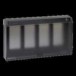 Ramka obudowy z pokrywą SIMON 500 4×S500 8×K45 szary grafit-255776