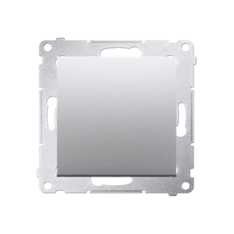 Łącznik jednobiegunowy (moduł) 10AX 250V, zaciski śrubowe, srebrny mat, metalizowany-252006