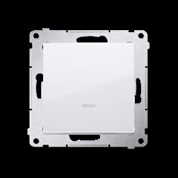 Łącznik jednobiegunowy z podświetleniem LED (moduł) 10AX 250V, szybkozłącza, biały-252031