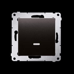 Łącznik jednobiegunowy z podświetleniem LED (moduł) 16AX 250V, zaciski śrubowe, antracyt, metalizowany-252042