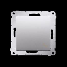 Łącznik schodowy (moduł) 10AX 250V, szybkozłącza, srebrny mat, metalizowany-252056