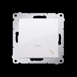 Łącznik schodowy z podświetleniem LED (moduł) 10AX 250V, szybkozłącza, biały-252072