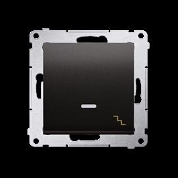 Łącznik schodowy z podświetleniem LED (moduł) 10AX 250V, szybkozłącza, antracyt, metalizowany-252076