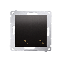 Łącznik schodowy podwójny (moduł) 10AX 250V, zaciski śrubowe, antracyt, metalizowany-252278