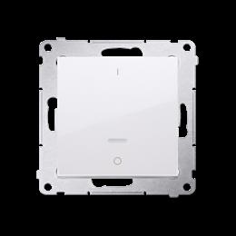 Łącznik dwubiegunowy z podświetleniem LED (moduł) 10AX 250V, szybkozłącza, biały-252340