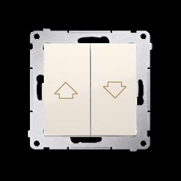 Przycisk żaluzjowy pojedynczy kremowy 10A-252575
