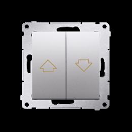 Przycisk żaluzjowy pojedynczy srebrny mat, metalizowany 10A-252576