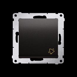 """Przycisk """"dzwonek"""" (moduł) 10AX 250V, szybkozłącza, antracyt, metalizowany-252170"""